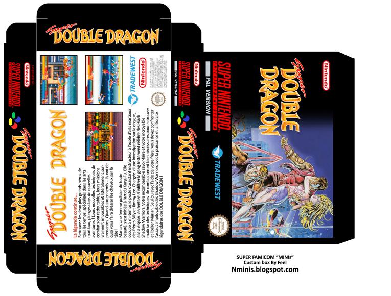 Super Double Dragon - Super Nintendo (custom)